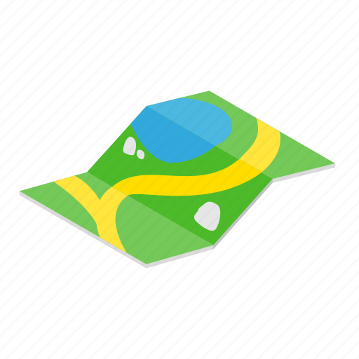 Colored, gps, isoled, isometric, location, map, pin icon - Download on Iconfinder