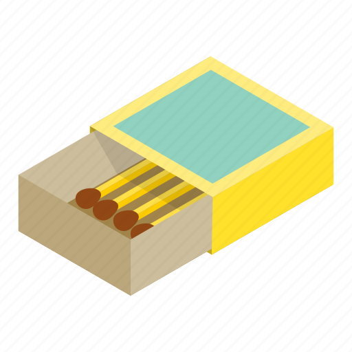 Box, flammable, isometric, match, matchbook, matchbox, matchstick icon - Download on Iconfinder