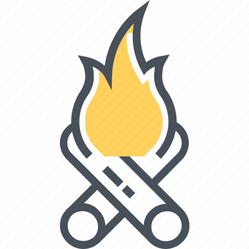 bonfire, camp, campfire, fire, firewood, survival, wood icon