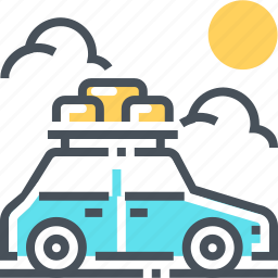 car, family, holiday, illustration, road trip, travel, vacation icon