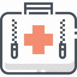 aid, bag, doctor, first, first aid, kit, medical icon