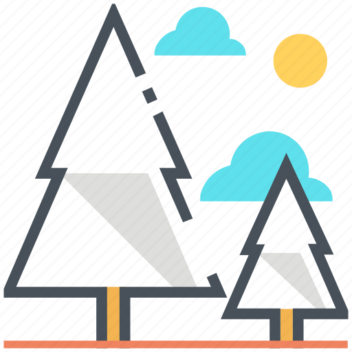 camping, forest, nature, tree, trees, woods icon