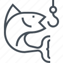 fish, fisher, fishing, fishing rod, forest, hook, sea food icon
