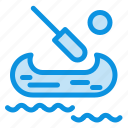 boat, canada, kayak icon