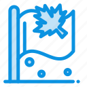 canada, flag, leaf, sign icon