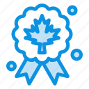 award, badge, leaf, quality