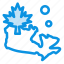 canada, leaf, map icon