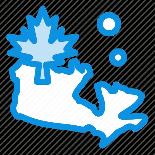 canada, leaf, map icon
