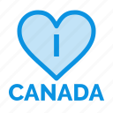 canada, heart, love icon