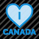 canada, heart, love