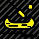 boat, canada, kayak icon