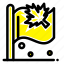 canada, flag, leaf, sign icon