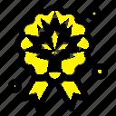 award, badge, leaf, quality icon