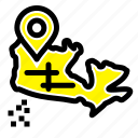 canada, location, map icon