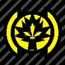 flag, leaf, tree icon