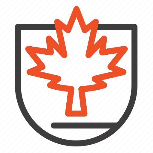 Canada, leaf, security, shield icon - Download on Iconfinder