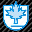canada, leaf, security, shield icon