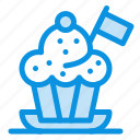 chef, cooker, flag, hat icon