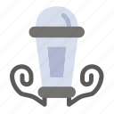lamp, lantern, light, night icon