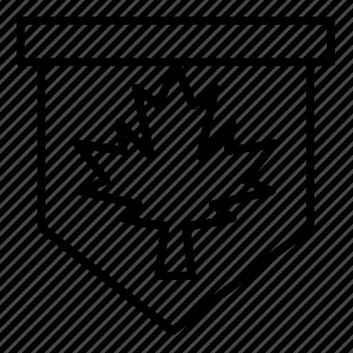 canada, leaf, sign, tag icon