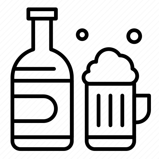 beer, bottle, canada, cup icon