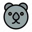 bear, head, predator icon