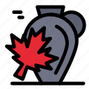 autumn, canada, leaf, maple, pot icon