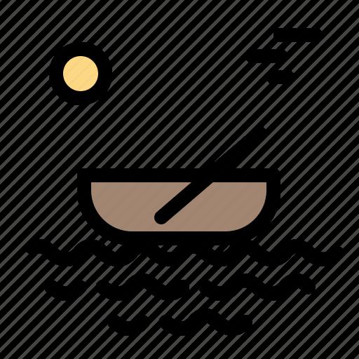 Boat, canoes, kayak, river, transport icon - Download on Iconfinder