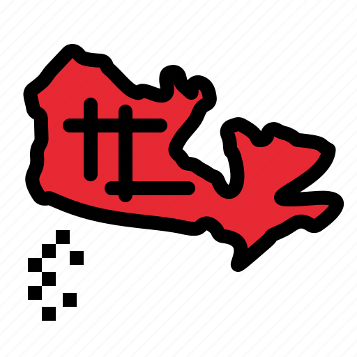 canada, location, map icon
