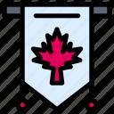 canada, flag, leaf, sign, tag