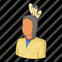 canada, culture, indian, man icon