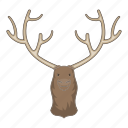 animal, deer, head, moose icon