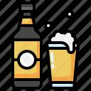 pub, beer, alcoholic, drink, pint, of, mug icon