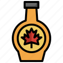 sweet, bottle, canada, syrup, maple, leaf