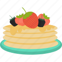cake, candy, food, fruit icon