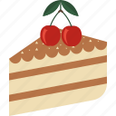 cake, candy, cherry, food, swett icon