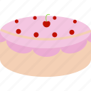 cake, candy, cherry, fruits, sweet icon