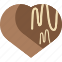 candy, chocolate, food, heart icon