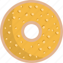 candy, donut, orange, sweet icon