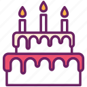 bakery, birthday cake, cake, celebration, dessert, sweet, wedding cake icon