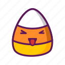 candy, corn, ejomi, stuck out tongue, closed eyes icon