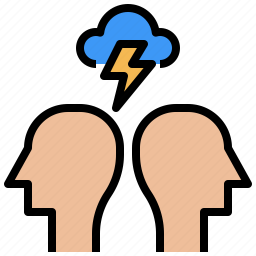 Anxiety, depression, head, mental, pain, stress, weather icon - Download on Iconfinder