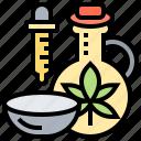 cbd, medical, natural, oil, therapy icon