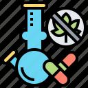 benefits, cannabinoid, cannabis, drugs, medical icon