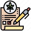 approval, business, cannabis, legal, license icon