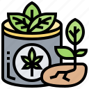 cannabis, herb, organic, plant, seed icon