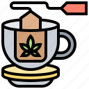 cannabis, drink, herbal, relaxation, tea icon