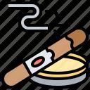 addiction, cigar, nicotine, smoking, tobacco icon