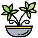grow, herb, marijuana, plant, weed icon