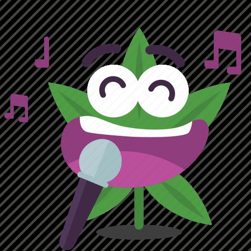 cannabis, karaoke, marijuana, sing, weed icon